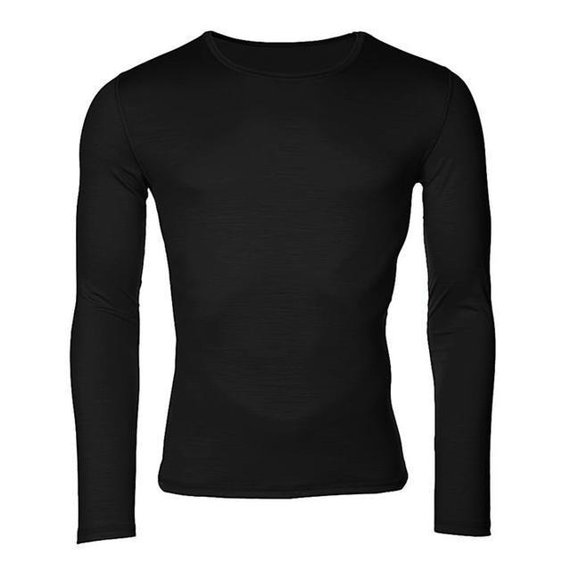 Pánské funkční triko Merino 140 dlouhý rukáv černé S, S - 1