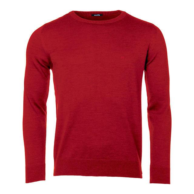 Pánský vlněný svetr Merino Extra Fine - Claret - 1
