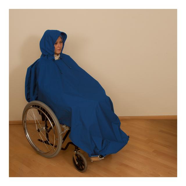 Pláštěnka pončo světle modrá
