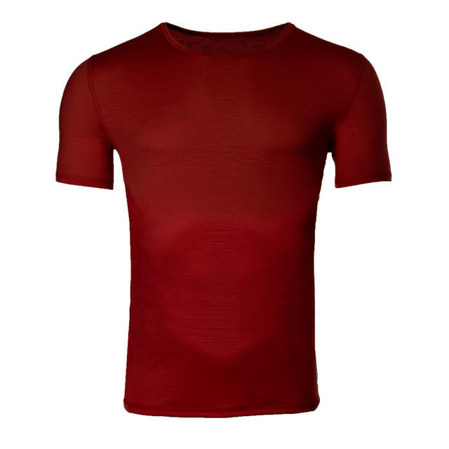 Pánské funkční tričko Merino 140 cihlově červená XL, XL - 1