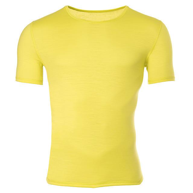 Pánské funkční triko Merino 140 dlouhý rukáv žluté - 1