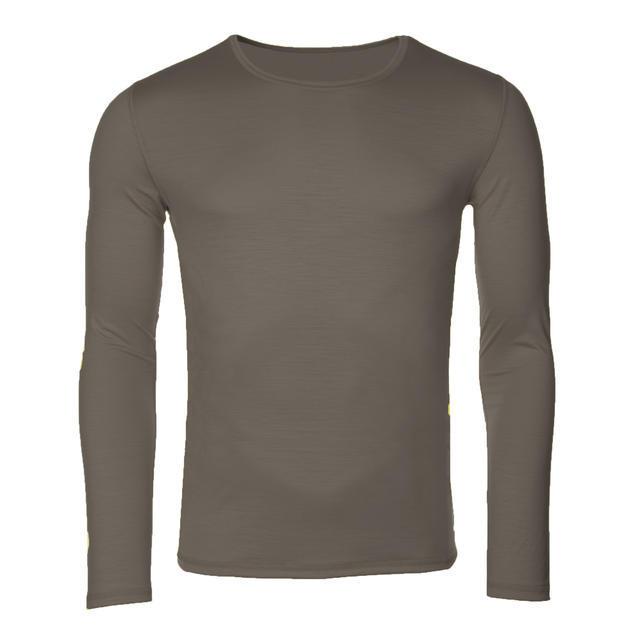 Pánské funkční triko Merino 140 dl.rukáv vintage khaki XL, XL - 1
