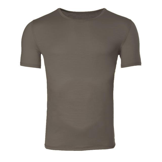 Pánské funkční tričko Merino 140 vintage khaki M, M - 1