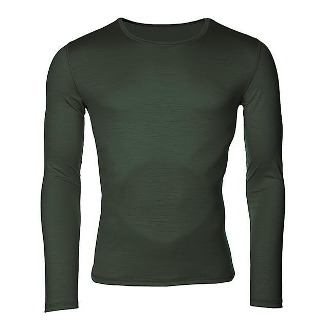 Pánské funkční triko Merino 140 dlouhý rukáv zelené XL, XL - 1