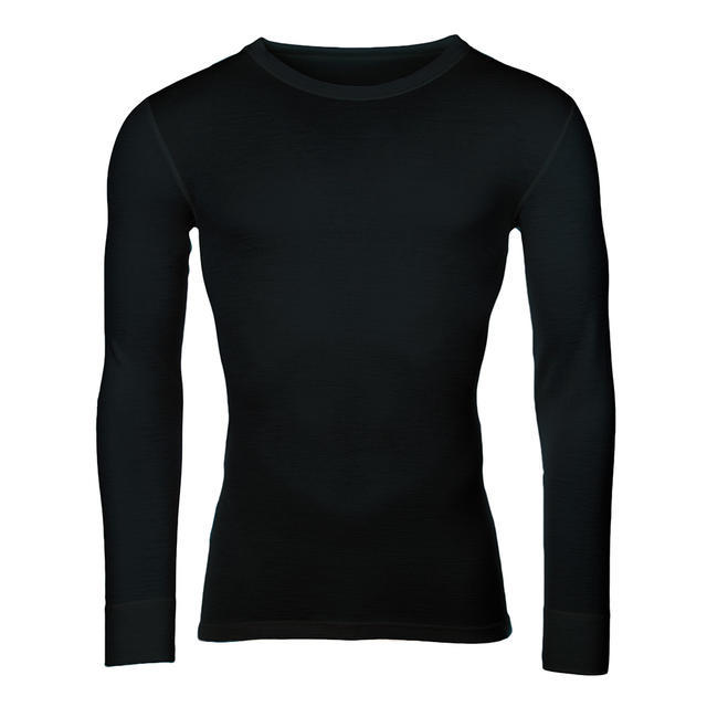 Pánské funkční triko Merino 210 dlouhý rukáv černé - 1