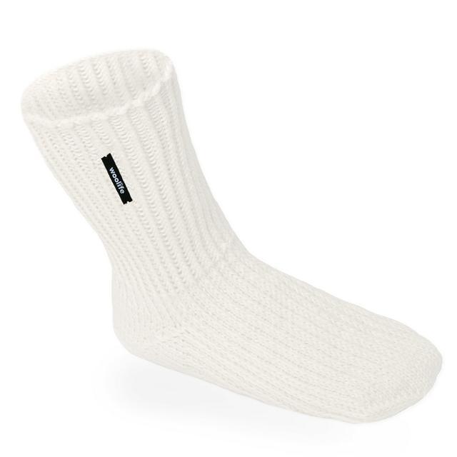Ručně pletené vlněné ponožky Woolife Superwash - přírodní smetanové - 1