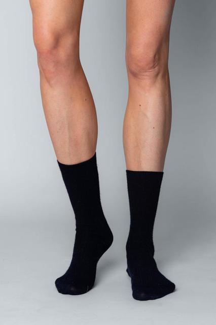 Vlněné ponožky Woolife Rib Black - 1