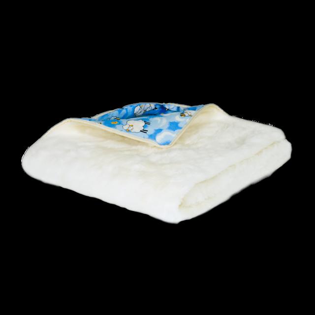Přikrývka Káťa kašmír 130x90cm modrá, modrá