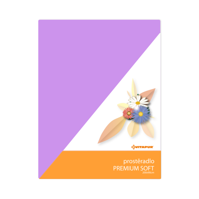 Prostěradlo PREMIUM SOFT fialové - 1