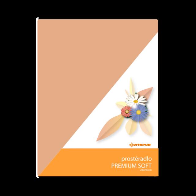 Prostěradlo PREMIUM SOFT medové - 1