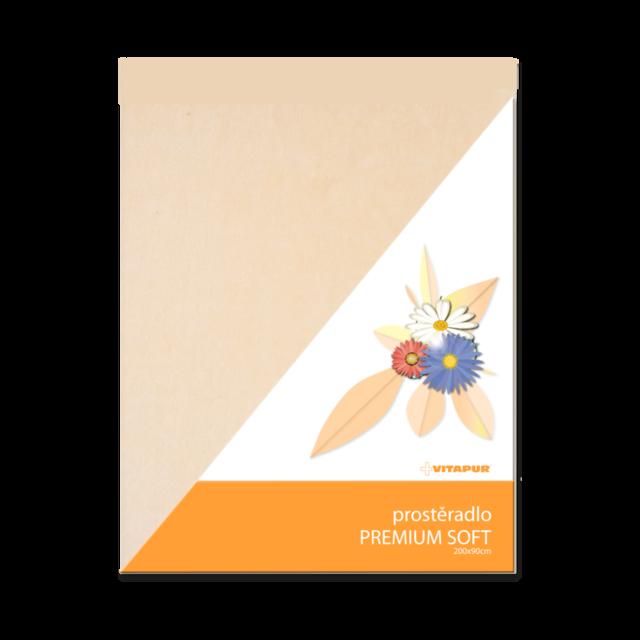 Prostěradlo PREMIUM SOFT smetanové - 1