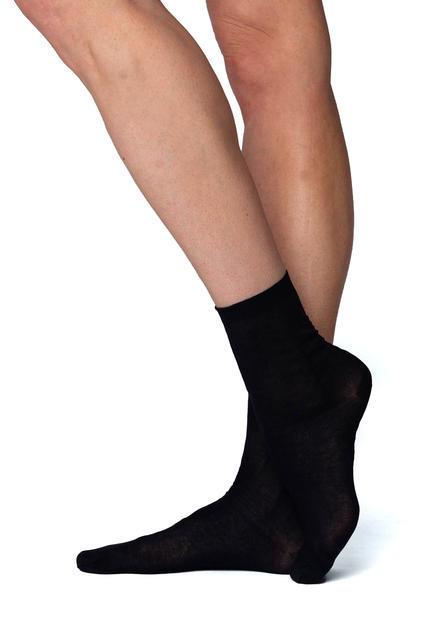 Ponožky jemné dámské elastické 2 páry vel.25-27  barva 999 černá, 25 - 1