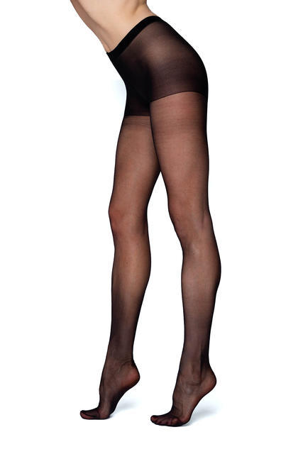 Punčochové kalhoty jemné PUSH-UP černá - 1