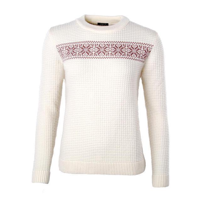 """Dámský vlněný pulovr """"CS"""" Merino Extra Fine - Vanilla Ice - 1"""