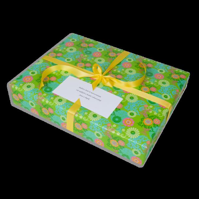 Dárkové balení zelené květy - 2