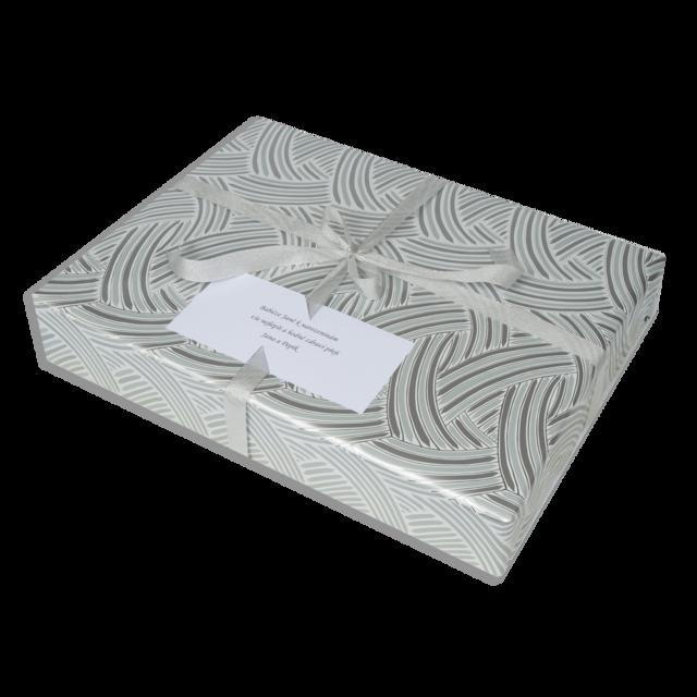 Dárkové balení stříbrné pruhy - 2