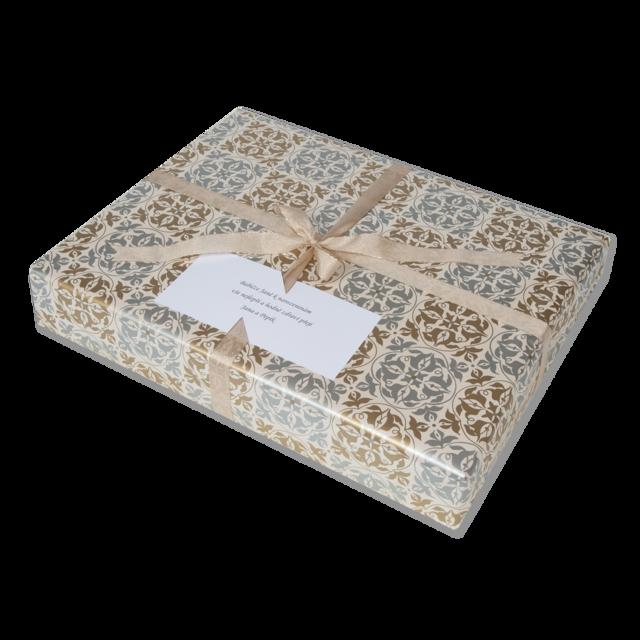 Dárkové balení zlatostříbrná textura - 2