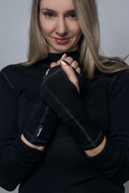 Vlněné rukavice bez prstů dámské Merino 240 UNI - 2