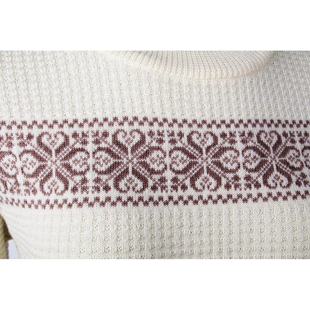 """Dámský vlněný pulovr """"CS"""" Merino Extra Fine - Vanilla Ice - 2"""