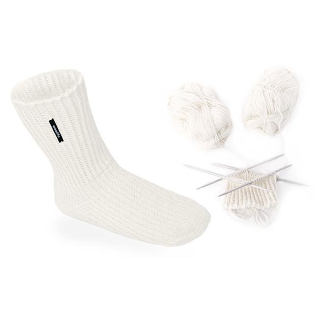 Ručně pletené vlněné ponožky Woolife Superwash - přírodní smetanové - 2