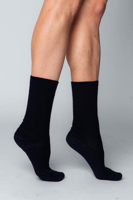 3 PACK Vlněné ponožky Woolife Rib Black - 2