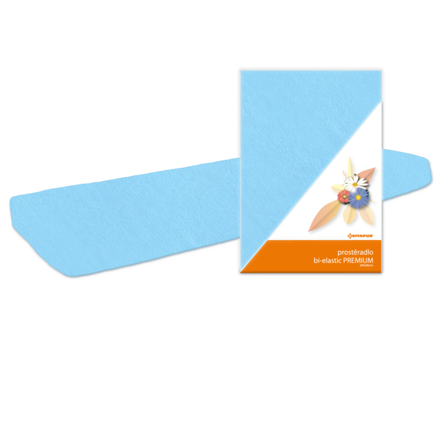 Prostěradlo bi-elastic PREMIUM modré - 2