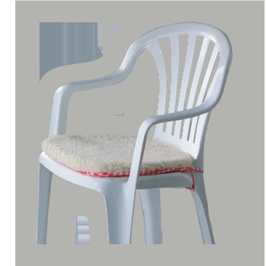 Sedák na židli Amor 2 ks modrý, modrá - 2