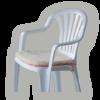Sedák na židli Amor 2 ks modrý, modrá - 2/2