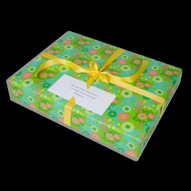 Dárkové balení zelené květy - 3