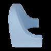 Opěradlo FROTÉ modré 50x60x50 - 3/4