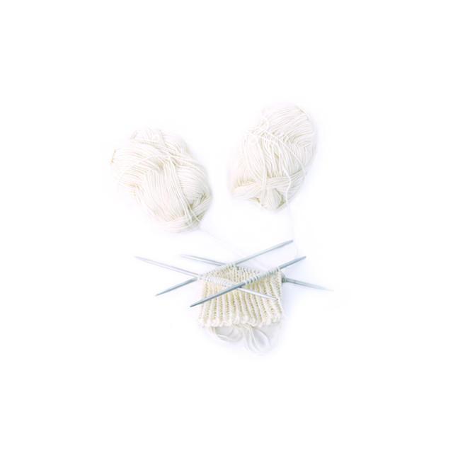 Ručně pletené vlněné ponožky Woolife Superwash - přírodní smetanové - 3