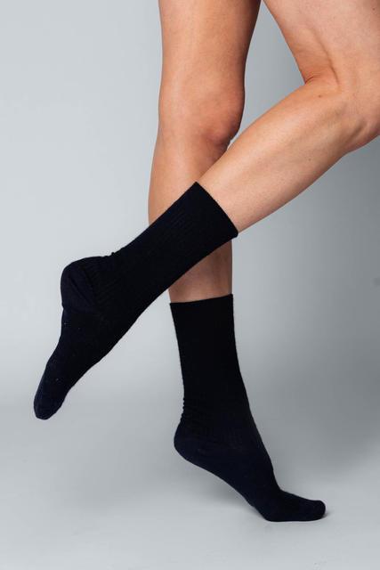 3 PACK Vlněné ponožky Woolife Rib Black - 3