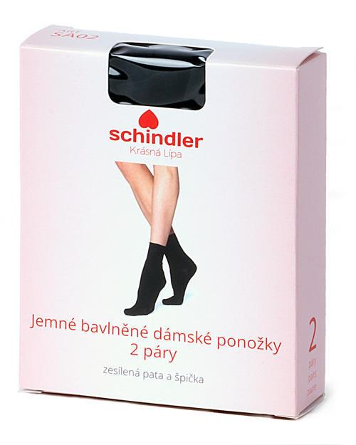 Ponožky jemné bavlněné dámské 2 páry vel.27 barva 10 černá, 27 - 3