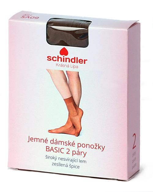 Ponožky jemné dámské BASIC 2 páry vel.25-27 barva 1420 tělová, světle hnědá - 3