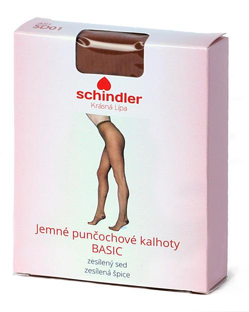 Punčochové kalhoty jemné BASIC hnědá - 3