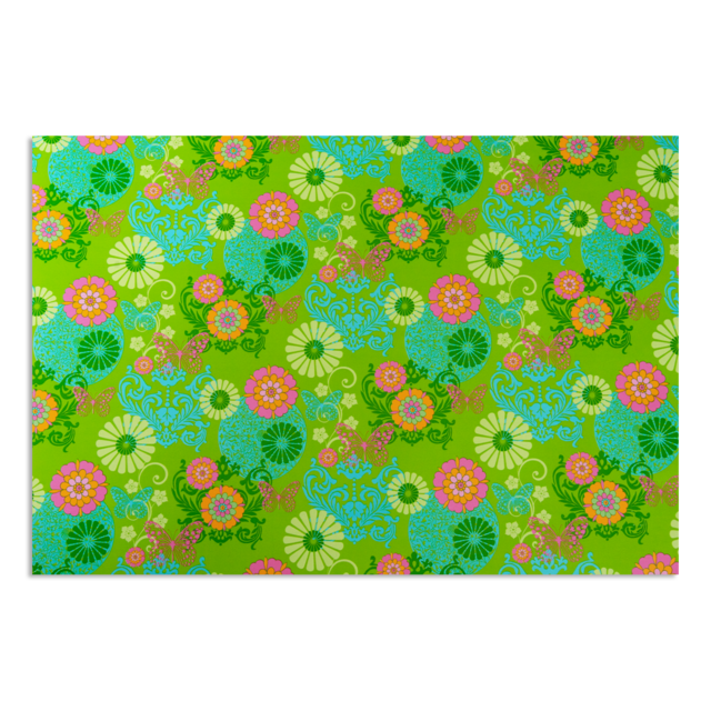 Dárkové balení zelené květy - 4