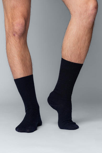 3 PACK Vlněné ponožky Woolife Rib Black - 4