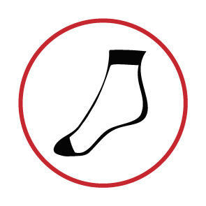 Ponožky jemné bavlněné dámské 2 páry černá - 4