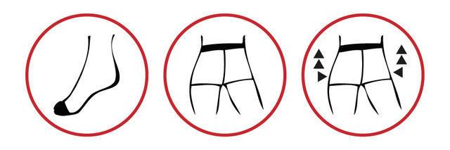 Punčochové kalhoty jemné PUSH-UP vel.182/108 barva 999 černá, 182/108 - 4
