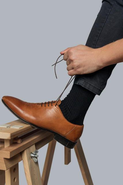 3 PACK Vlněné ponožky Woolife Rib Black - 5