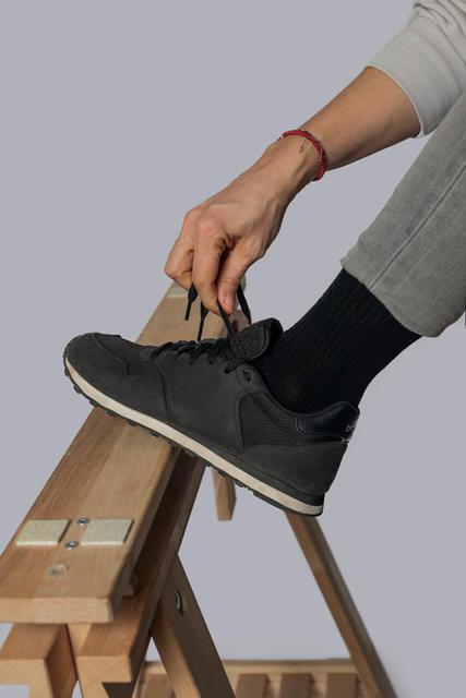 Vlněné ponožky Woolife Rib Black - 5