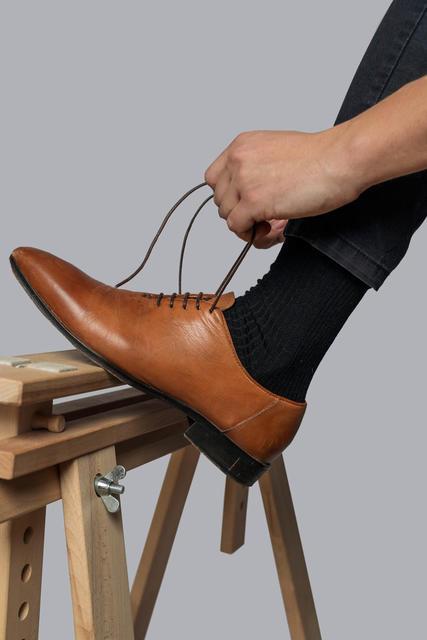 Vlněné ponožky Woolife Rib Black - 6