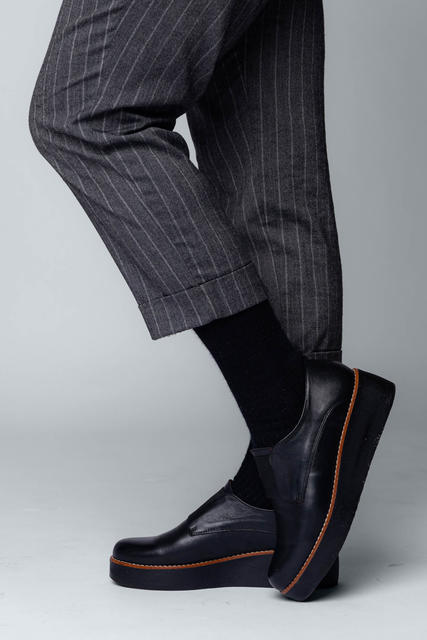 3 PACK Vlněné ponožky Woolife Rib Black - 7