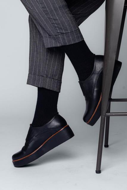 Vlněné ponožky Woolife Rib Black - 7