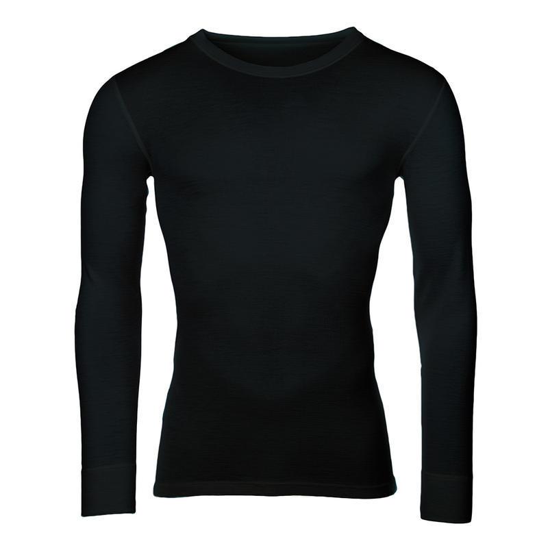 a9f2b9a6d15 TEPLO DOMOVA - Pánské funkční triko Merino 210 dlouhý rukáv černé